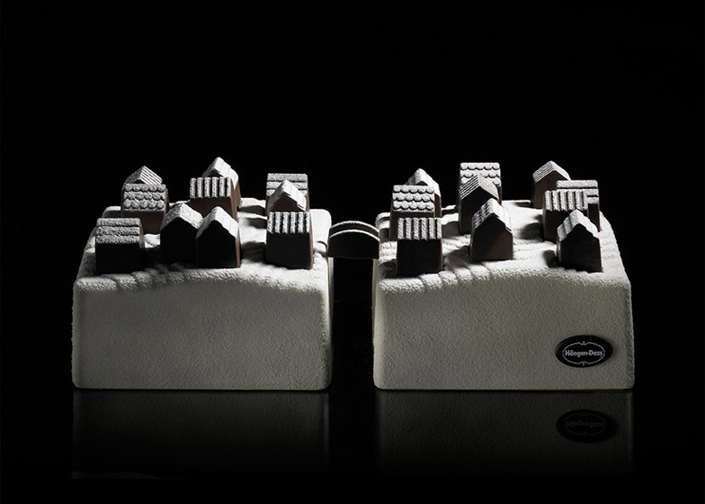 "Ice cream cake ""village"" for Häagen-Dazs by Nendo"