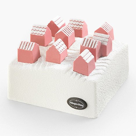 Nendo designs ice cream Village cake for Häagen-Dazs