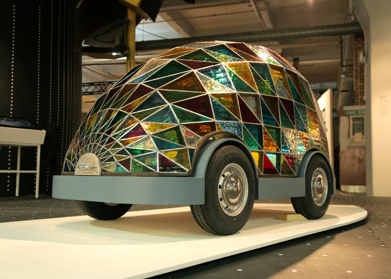 Stained Glass Driverless Sleeper Car of the Future by Dominic Wilcox