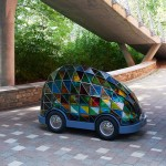 "Dominic Wilcox's ""car of the future"" is driverless and made of stained glass"
