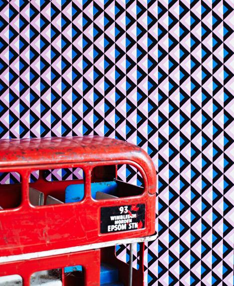Light on Lattice Wallpaper by Eley Kishimoto