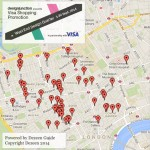 Dezeen and designjunction launch map  of West End Design Quarter 2014