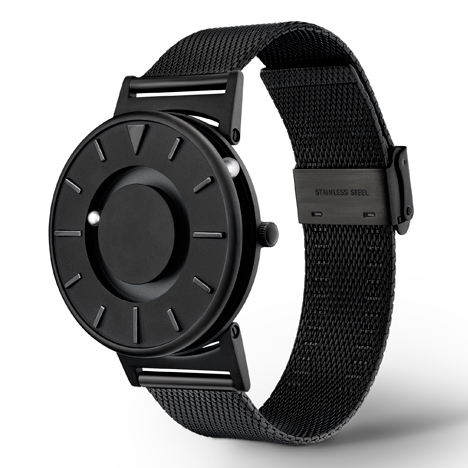 The Bradley Black tactile timepiece launches exclusively at Dezeen Watch Store