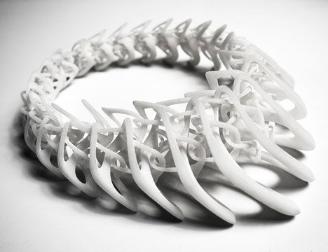 3D-printed necklace by Jenny Wu
