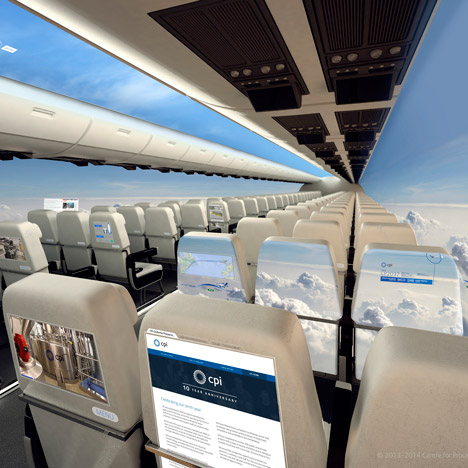 Tech firm proposes using OLED screens to make aircraft cabins appear see-through