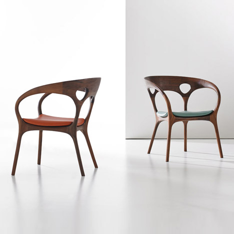 Ross Lovegrove designs first wooden chair to mark Bernhardt Design's 125th anniversary