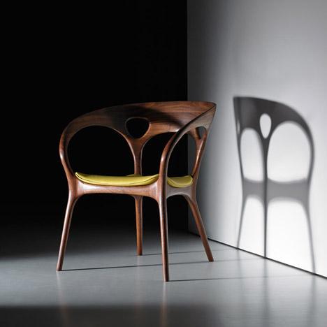 ross lovegrove designs first wooden chair for bernhardt design