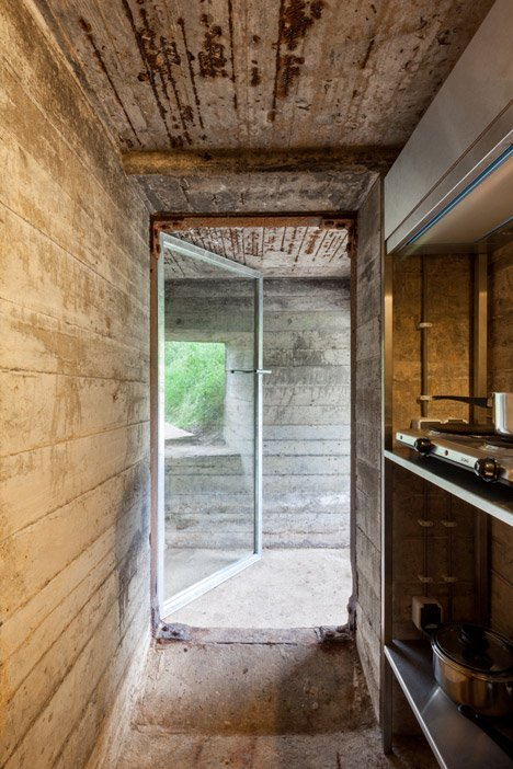 Concrete bunker in the Netherlands transformed into a vacation home