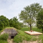 Concrete bunker in the Netherlands transformed into a tiny vacation home