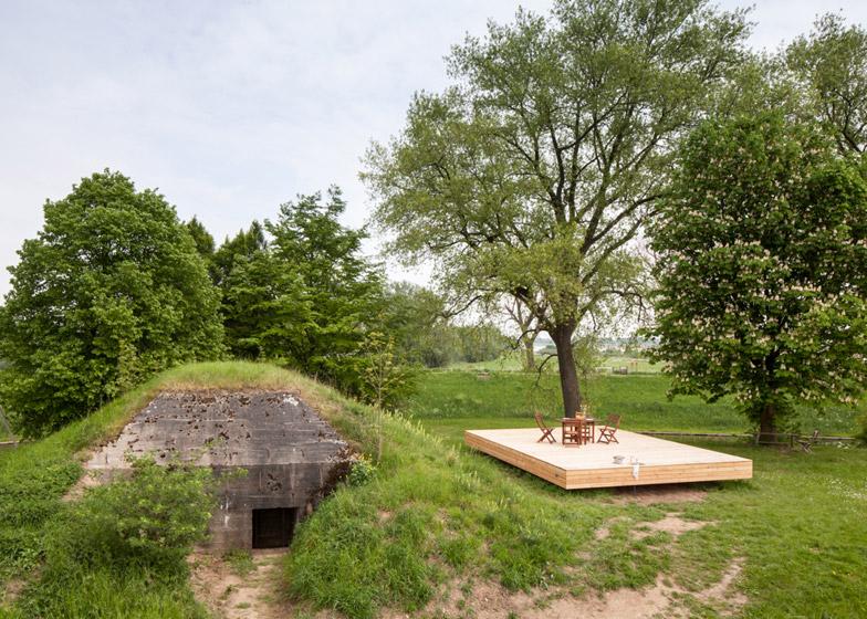 Bunker Pavilion by B-ILD