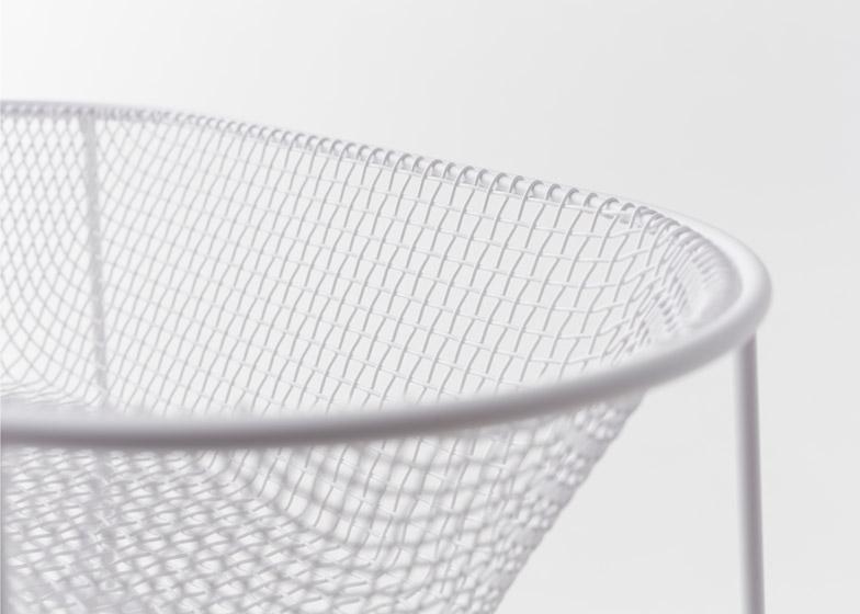 Basket container by Nendo with Kanaami Tsuji