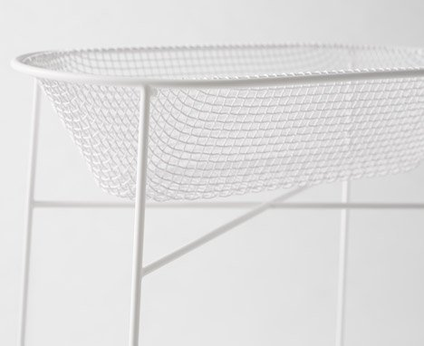 Basket container by Nendo with Kanaami Tsuji