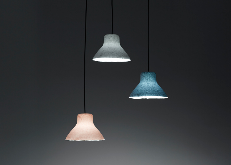 Bi-Color Washi lamp by Nendo