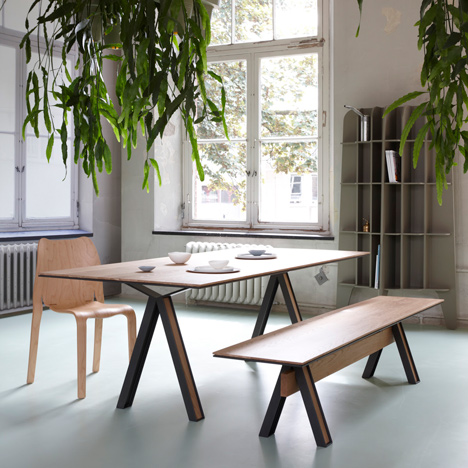Blakeley furniture by Studio Roderick Vos is built from architectural joists