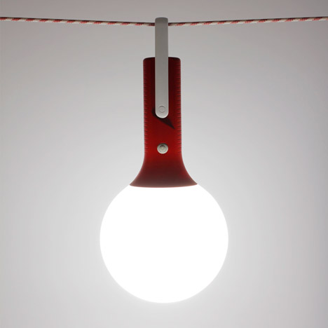 Claudio Gatto's Bolla rechargeable LED lamp works both indoors and outdoors