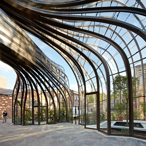 Heatherwick's visitor facility at the Bombay Sapphire distillery in England opened last year