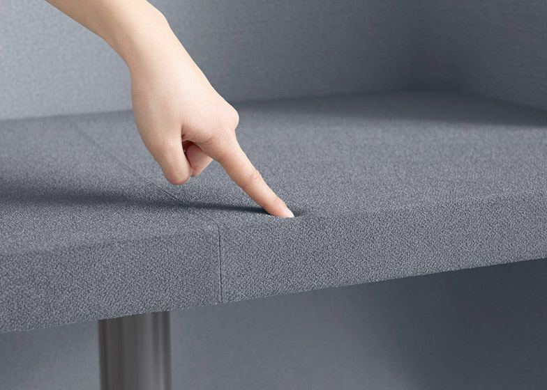 Brackets-lite office furniture by Nendo for Kokuyo