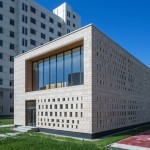 """Canteen building by Knowspace features a granite facade """"like lychee skin"""""""