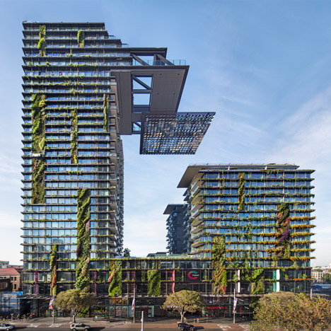 Jean Nouvel's Sydney towers boast vertical gardens and a huge sunlight reflector