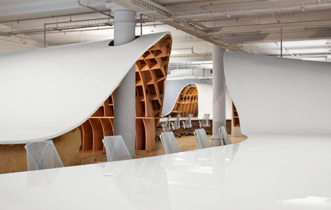 The Barbarian Group offices by Clive Wilkinson