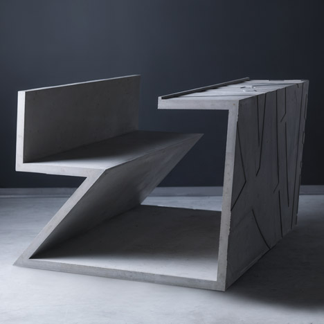 Libeskind's table for Marina Abramovic produced as limited-edition by Moroso