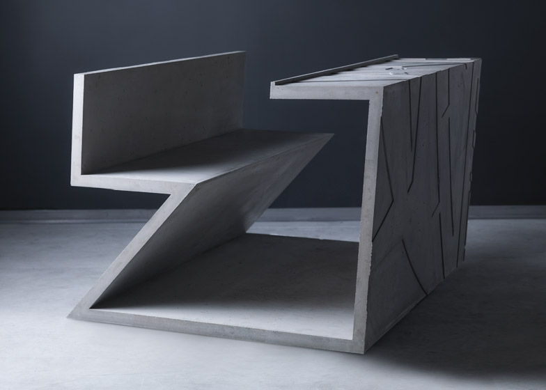 Daniel Libeskind table for Marina Abramovic for Moroso