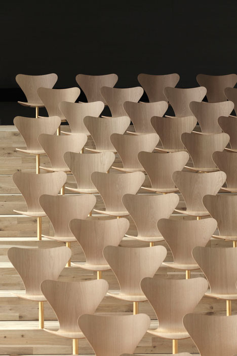 Interiors: Danish Maritime Museum chairs by Bjarke Ingels Group - photographed by David Borland