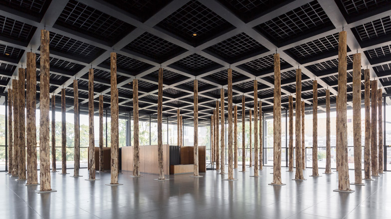Sticks and Stones installation by David Chipperfield