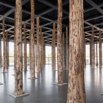David Chipperfield installs tree trunk columns in Mies van der Rohe's Neue Nationalgalerie