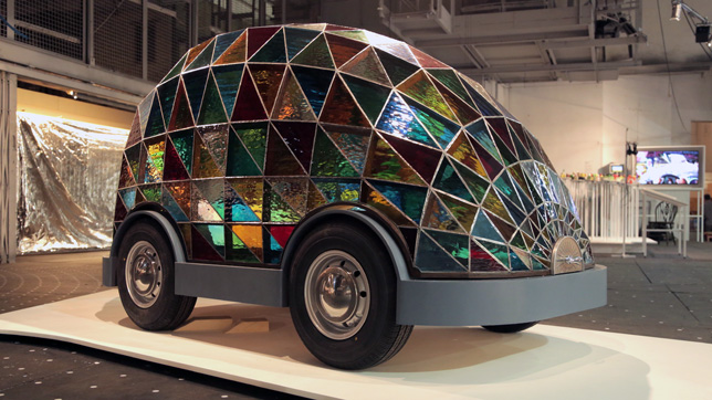 Stained-glass Driverless Sleeper Car by Dominic Wilcox