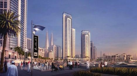 Dubai Creek Harbour twin towers by Emaar Properties and Dubai Holdings