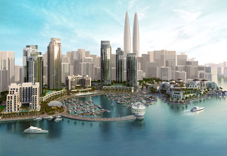 Dubai Creek Harbour twin towers by Emaar Properties and Dubai Holdings