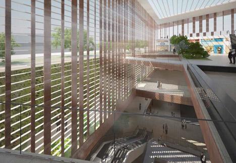 Le Bourget metro station by Elizabeth de Portzamparc
