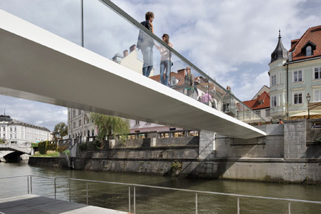 Footbridge Ribja Brv in Ljubljana by Arhitektura d.o.o.
