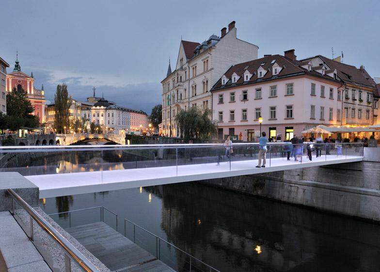 Footbridge Ribja Brv in Ljubljana by Arhitektura d.o.o.