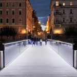 Arhitektura d.o.o. designs minimalist Ribja Brv Footbridge in the centre of Ljubljana