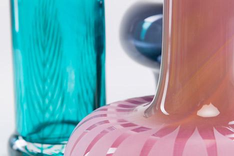 Graphic Vases by Kristine Five Melvaer for Magnor Glassverk