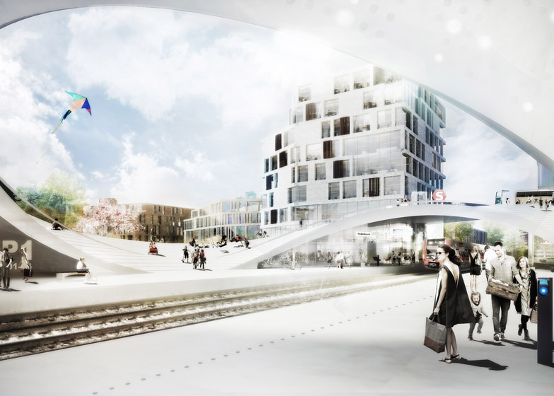 Vinge train station by Henning Larsen Architects