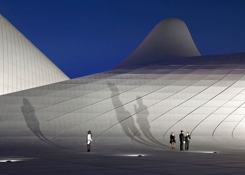 Buildings in use: Heydar Aliyev Center by Zaha Hadid - photographed by Hufton and Crow