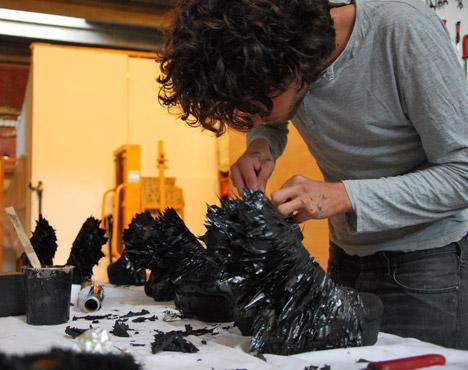 0c9aa27a8633 Jólan van der Wiel creates spiky magnetic shoes for Iris van Herpen