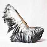 Jólan van der Wiel creates spiky shoes for Iris van Herpen using magnets