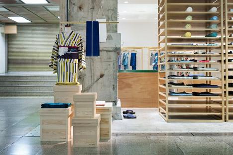 yusuke seki s second kimono store pairs fabrics with raw materials