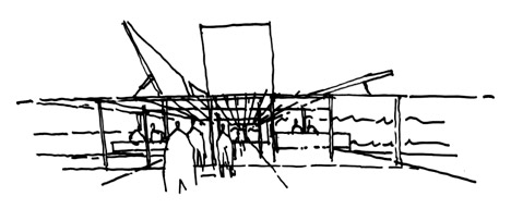 MPavilion sketch by Sean Godsell