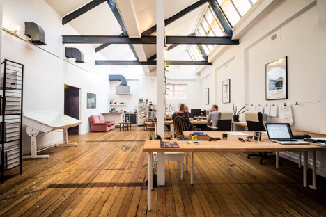 """Workspaces are white, passages are black"" at Post-'s self-designed architecture studio"