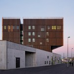 Mantois Technology Centre by Badia Berger Architectes features moveable timber shutters