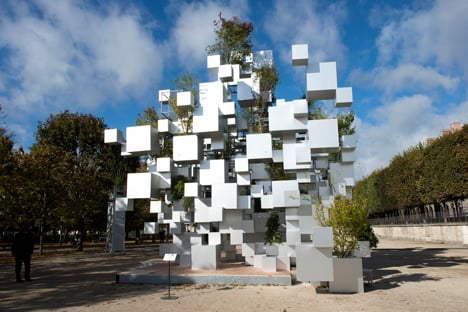 Many Small Cubes installation by Sou Fujimoto