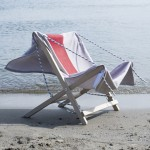 Beach towels double as seats for Júlia Esqué's Marina deck chair