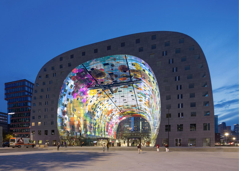 MVRDVs Arched Markthal Rotterdam Opens