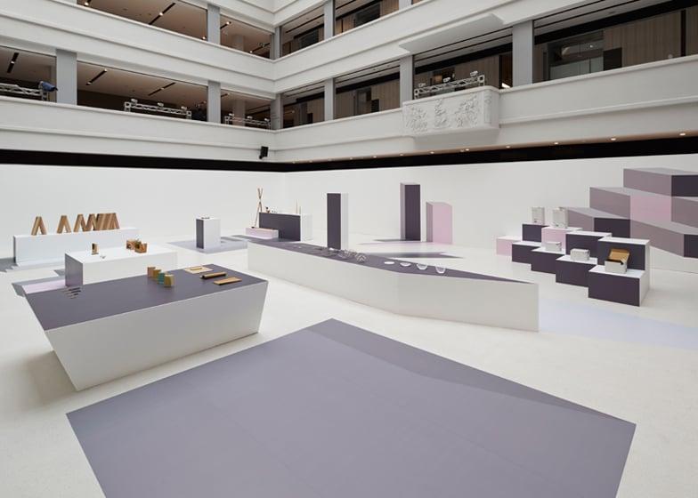 Furniture Design Exhibition nendo creates optical illusions for japanese design exhibition display