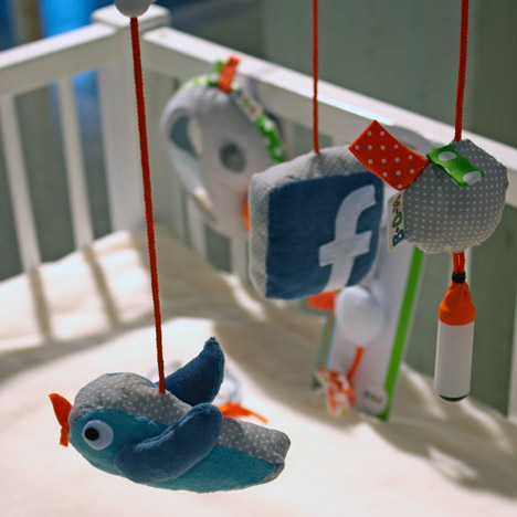 Interactive soft toys let babies post to Facebook